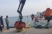 영덕군 다목적 어업지도선 영덕누리호, 해양 폐그물 수거