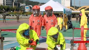 예천군보건소 두창바이러스 생물테러 대규모 모의훈련 실시