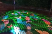 경산시, '말매못공원' 광장 야간경관조명 설치