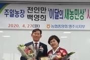 영주농협 전인만·백영희 부부 '새농민상' 수상
