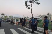안동시, 8·15 광화문 집회 투입된 경찰대원 '워킹스루' 검사 실시