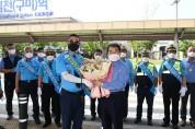 김충섭 김천시장, 교통안전 봉사 및 택시기사 현장 격려